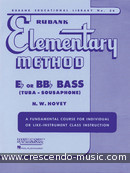 Elementary method for Eb or BBb bass. Hovey, Nilo W.