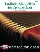 Balkan melodies for accordion. Irwin, Frances M.