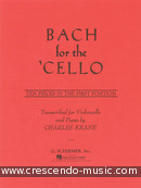 Bach for the cello. Bach, Johann Sebastian