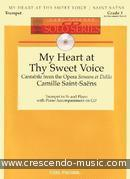 View a sample page! My heart at thy sweet voice - Saint-Saens, Camille