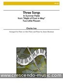 View a sample page! 3 Songs - Ives, Charles E.