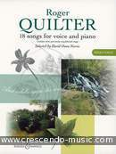 18 songs for voice and piano (high vce.). Quilter, Roger