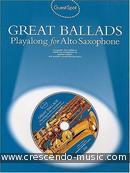Great ballads - playalong for altsax. Album