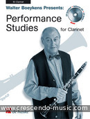 Performance studies for clarinet. Album