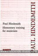 Elementary training for musicians. Hindemith, Paul