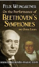 On the performance of Beethoven's symphonies. Weingartner, Felix