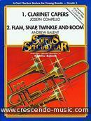 View a sample page! Clarinet capers & Flam, snap, twinkle and boom - Compello, Joseph; Balent, Andrew
