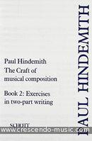 The Craft of Musical Composition - 2 (Exerc 2-part writing). Hindemith, Paul