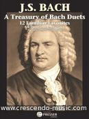 A treasury of Bach duets - 12 familiar favorites. Bach, Johann Sebastian