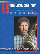 15 Easy jazz, blues & funk etudes (C). Mintzer, Bob