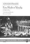A Night in Venice - Ein Nacht in Venedig (Vocal score). Strauss (Junior), Johann