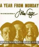 A year from Monday - New lectures and readings. Cage, John