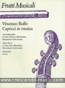 View a sample page! Capricci in musica - Ruffo, Vincenzo