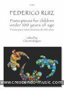 Piano pieces for children under 100 years of age. Ruiz, Federico