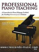 Professional Piano Teaching. Jacobson, Jeanine