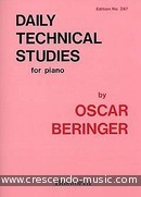 Daily Technical Studies For Piano. Beringer, Oscar