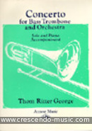 Concerto for bass trombone. George, Thom Ritter