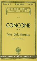 30 Daily Exercises, Op.11 (Low voice). Concone, Giuseppe