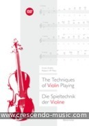 The techniques of violin playing. Arditti, Irvine; Plat, Robert HP