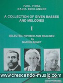 A Collection of Given Basses and Melodies. Boulanger, Nadia; Vidal, Paul