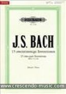 15 Two-part Inventions (New Urtext edition). Bach, Johann Sebastian