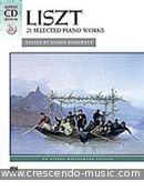 21 Selected piano works. Liszt, Franz