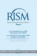 International Inventory of Musical Sources (RISM) - A/I.