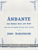 Andante for Double bass and Harp. Dahlstrand, John