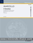 3 Sonatas (from Op.2). Marcello, Benedetto