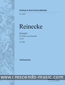 Flute concerto in D major, Op.283 (Wind parts). Reinecke, Carl