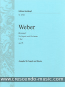 Concerto for Bassoon, Op.75 (Violin 2 part). Weber, Carl Maria von