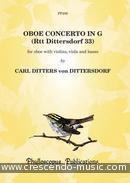Concerto for Oboe and Strings (Score & parts). Ditters von Dittersdorf, Karl