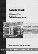 Gelido in Ogni Vena - Vocal score (From Il Farnace). Vivaldi, Antonio
