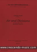 Airs & Divisions (18 Divisions on a Ground - Partitura e par. Poole, Anthony
