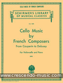Cello Music by French Composers. Album