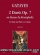 2 Duets on themes by Krumpholtz, Op.7